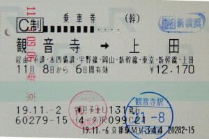 旅程証拠写真