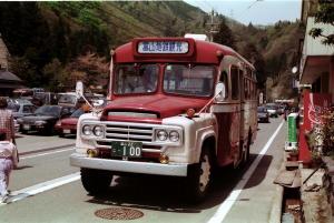 古い写真の古いバス