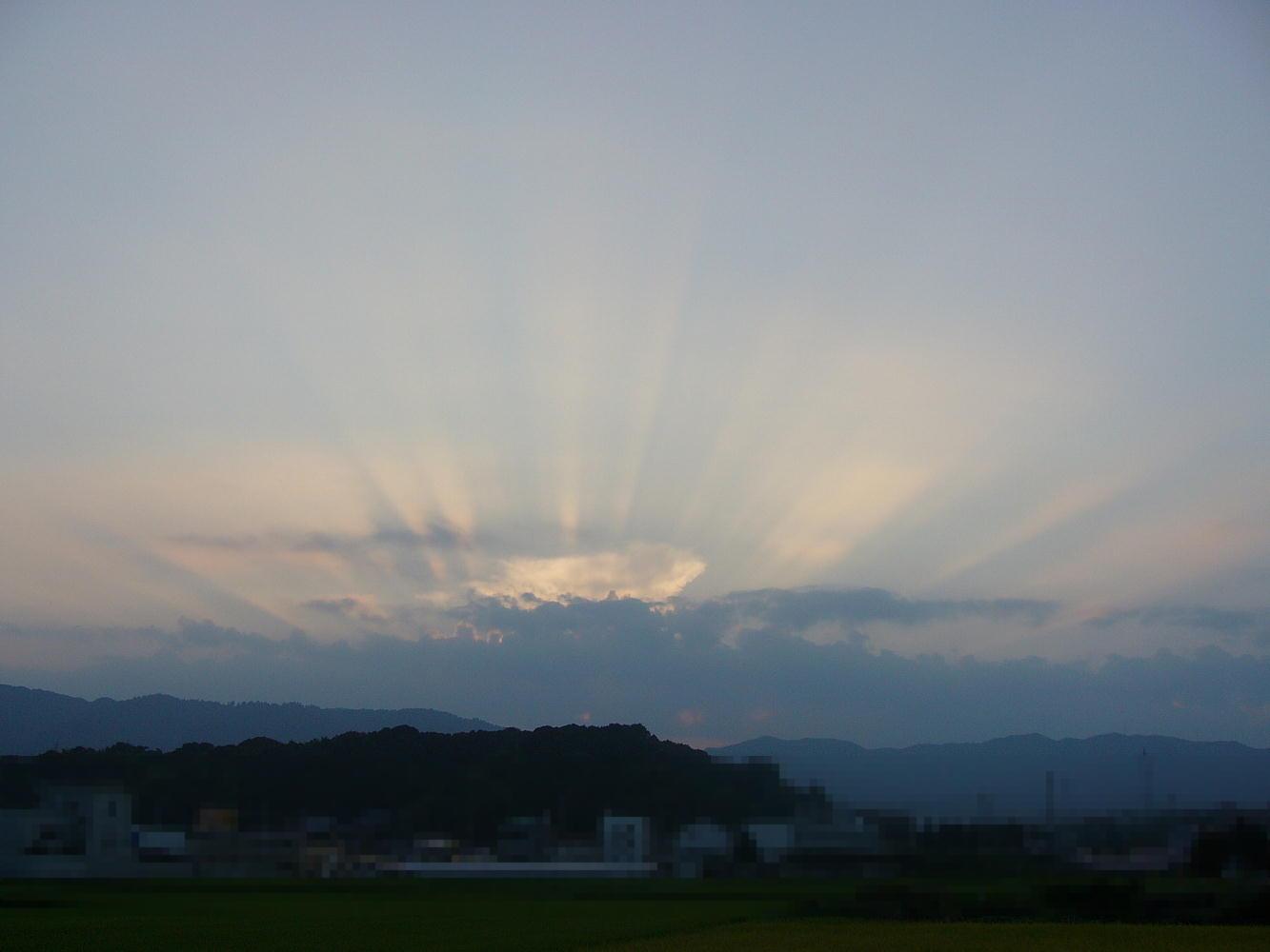 その日の夕方の風景