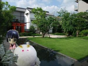 虎屋茶寮の庭にて