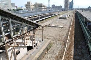 富山駅現在工事中