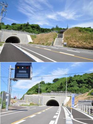 新潟2010;トンネルの参道の位置関係