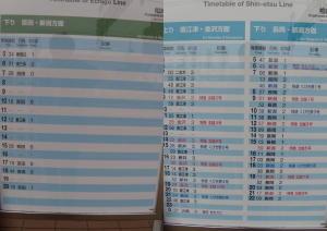 柏崎駅の時刻表
