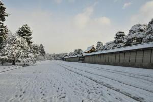 雪の京都御苑(1)